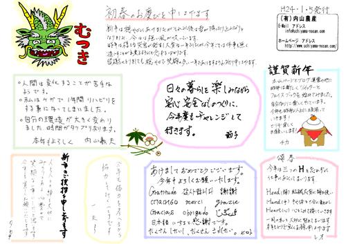 内山農産ニュースレター むつき(2012年1月5日発行)