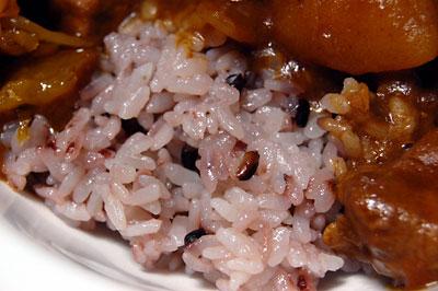 『黒米・朝紫』入りのご飯