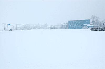1月29日朝に撮影した内山農産の社屋