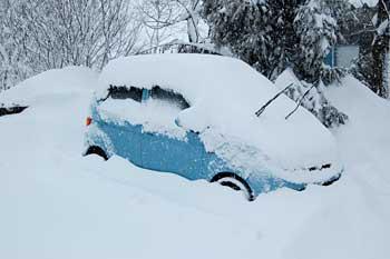 雪に埋もれています
