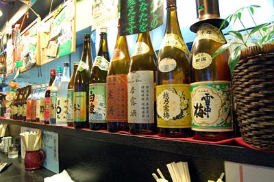 数々の銘酒の空き瓶