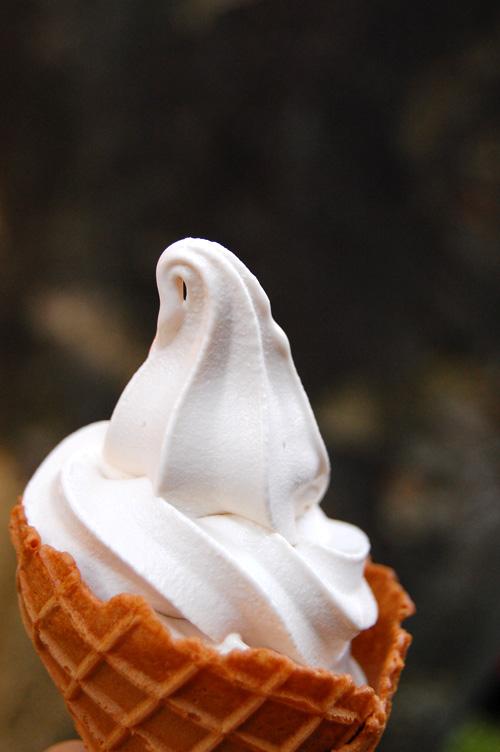 栗あん入りのソフトクリーム
