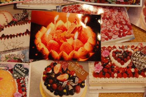 お誕生日や記念日のケーキ