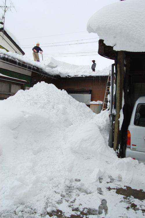 雪を落とします