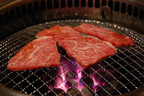 お肉を焼きましょう