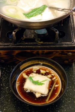 炭酸水の湯豆腐