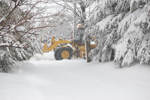 小泉集落内を除雪