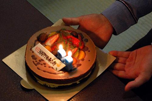 お誕生日ケーキの登場