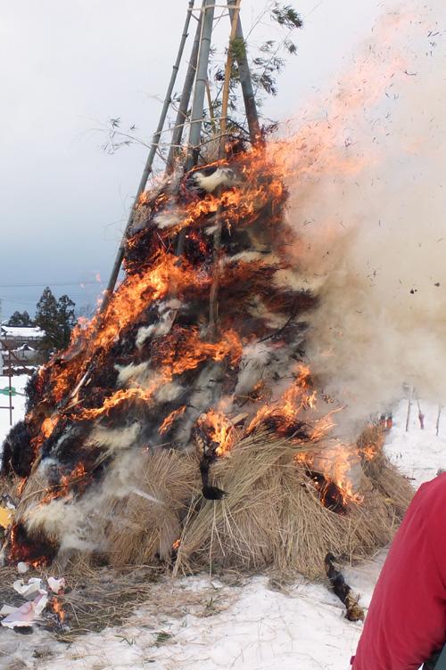 サイノカミが燃える