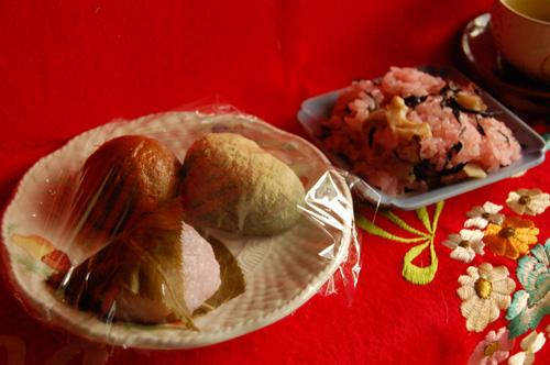 桜餅、うぐいす餅、おまんじゅう