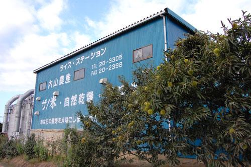 ライスセンター 内山農産 作業所 乾燥 籾摺り 貯蔵 新米 籾