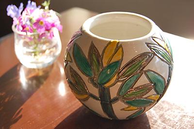 赤瀬ミフサ作 竹の小鉢